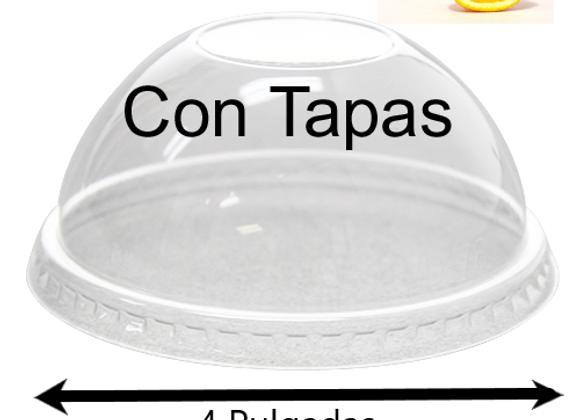 Contenedores 8oz  Media Naranja CON TAPAS (100)
