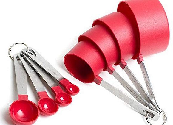 Tazas y Cucharitas Medidoras p/reposteria Set 8