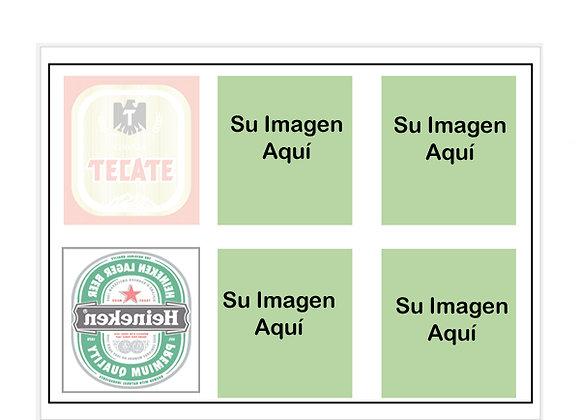6 Etiquetas por Hoja BOTE Cerveza ó Soda 3 x 3.5  pulgadas