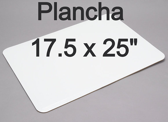 "Bases carton (Plancha) Rectangular 17.5 x 25"" Set de 2"