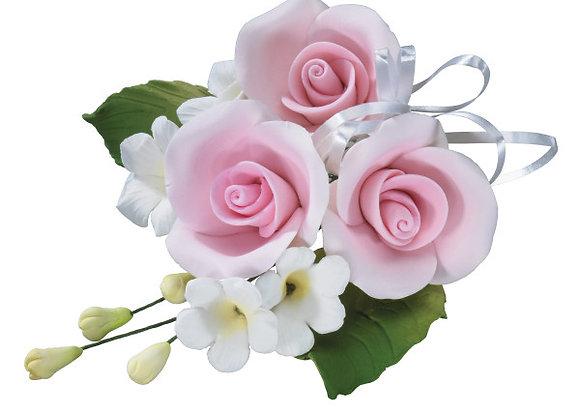 Trio Pink Rose Floral - Gum Paste Sprays
