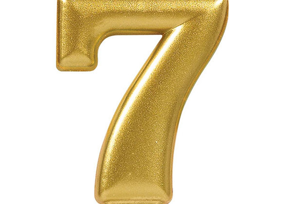 Vela Numero Siete - Gold Number 7 Cake Candle