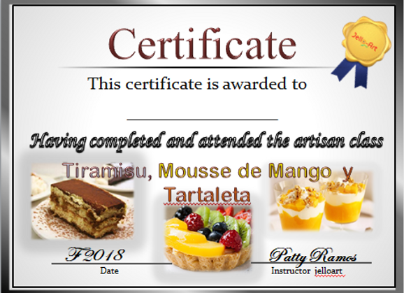 Tiramisu, Mouse de Mango y Tartaleta