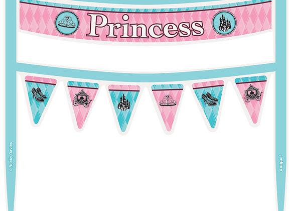 Letrero Princesa - Princess Cake Banner