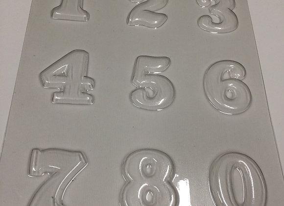 Numeros 12345678 y 0