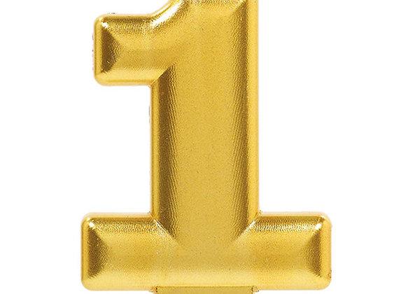 Vela Numero Uno - Gold Number 1 Cake Candle