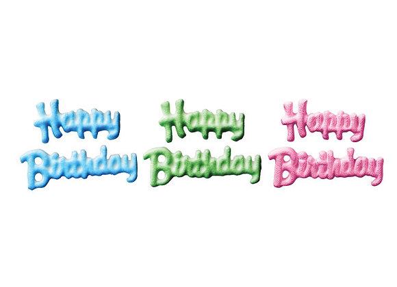Happy Birthday Icing Set de 4