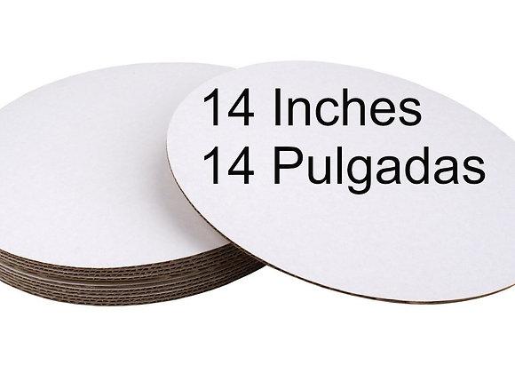 Bases carton blanco 14 pulgadas