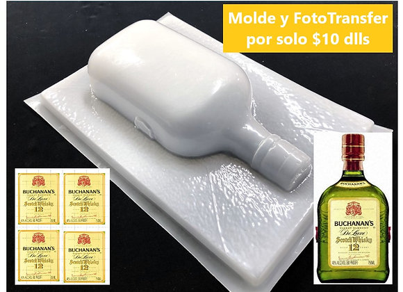 Botella Buchanan's  1/2 Litro y FotoTransfer