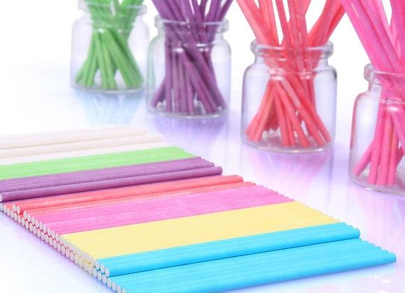 GelaPaletas Palitos de colores 4 Pulgadas Bolsa 50