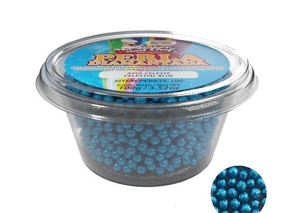 Perlas Diamantadas Azul Celeste