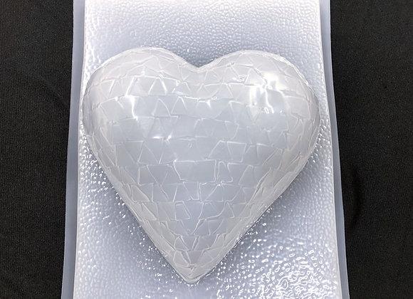 Corazon vidrio cortado 1/2 Litro