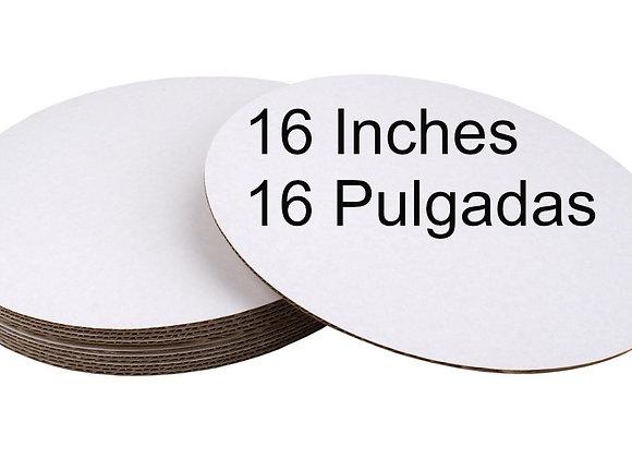 Bases carton blanco 16 pulgadas