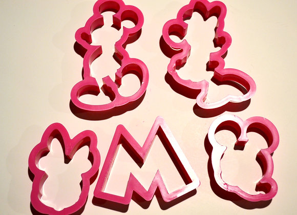Cortadores para Fondant en forma de Mickey Mouse and Minnie