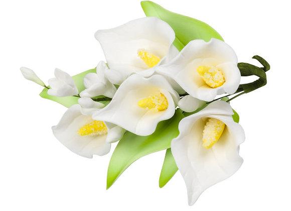 White Calla Lilly - Gum Paste Sprays