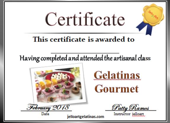 Gelatinas Gourmet