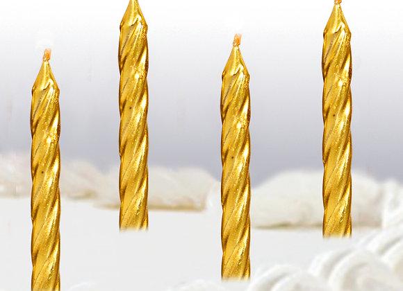 Velas en Espiral color Oro - Gold Spiral Candles