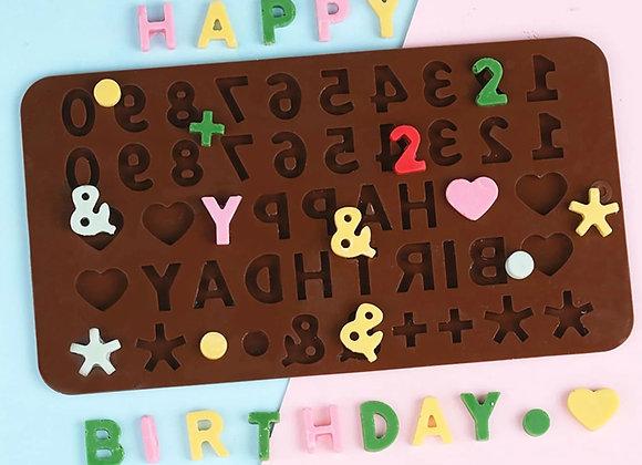 Happy Birthday, numeros y corazones