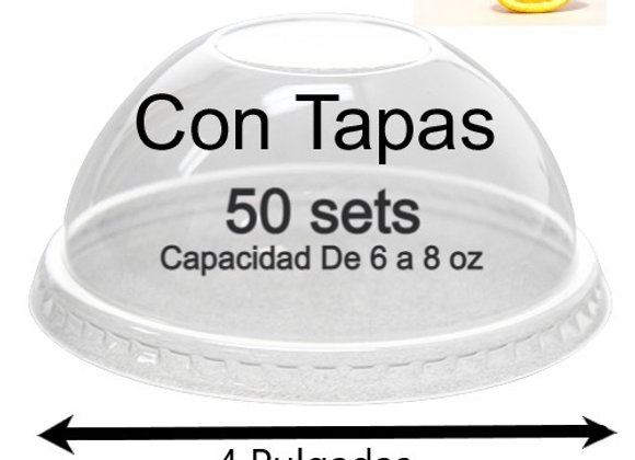 Contenedores  Media Naranja CON TAPAS (50sets)