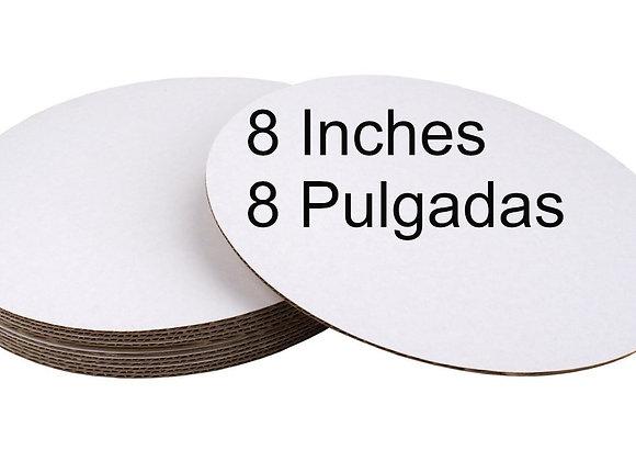 Bases carton (Set 2) blanco 8 pulgadas