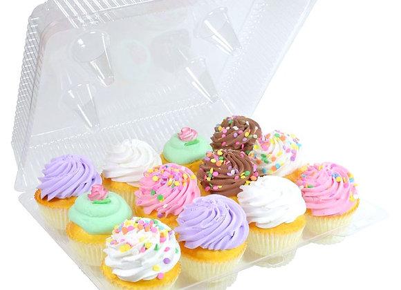 Cupcake Container con Tapa 12 cupcakes