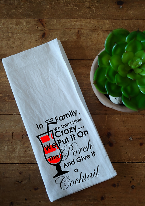100% Cotton Dishcloth - In our family
