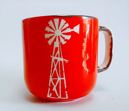 Windmill Mugs, Red or Blue