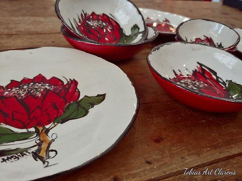Protea Side or Cake Plates