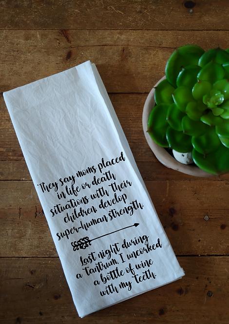 100% Cotton Dishcloth - They say moms ...