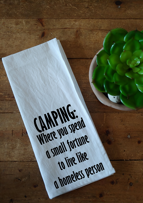 100% Cotton Dishcloth - Camping