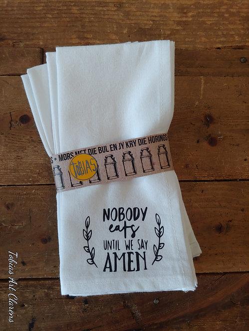 Napkins (100% Cotton) - Nobody Eats (4)
