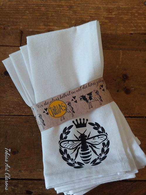 Napkins (100% Cotton) - Queen Bee (4)