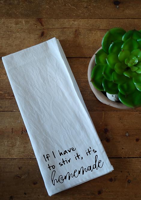 100% Cotton Dishcloth - If I have to stir