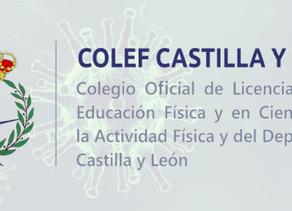 COLEF Castilla y León adopta medidas excepcionales ante la situación extraordinaria de salud pública