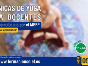 Técnicas de Yoga para profesionales en el ámbito de la educación