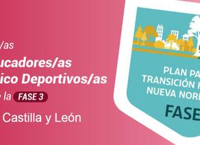 Los educadores físico deportivos ante la fase 3 en Castilla y León