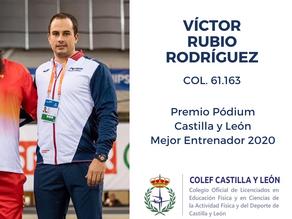 Víctor Rubio, premio Pódium al mejor entrenador de Castilla y León 2020