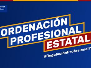 Aportaciones de la organización colegial al proyecto normativo de la #RegulaciónProfesionalYA
