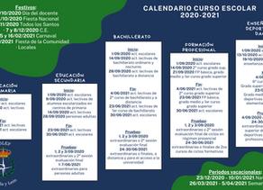 Publicado el calendario escolar 2020-2021 de Castilla y León