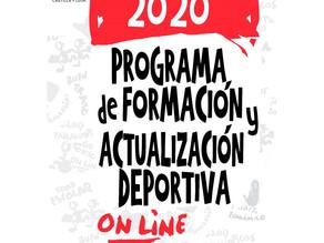 Nueva participación en el Programa de Formación y Actualización Deportiva 2020