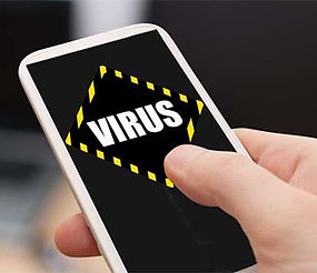 smartphone with virus