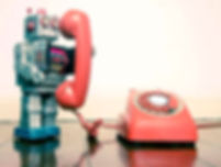 robot holding phone receiver