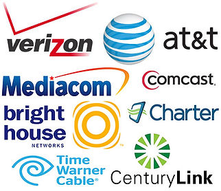 logos of various internet service providers