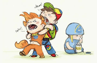 web browsers fighting