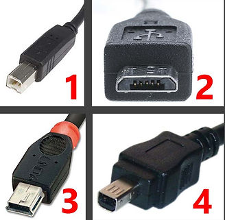 various usb 2 b connectors