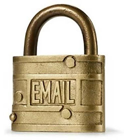 padlock with email embossed