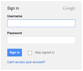 example of gmail login screen