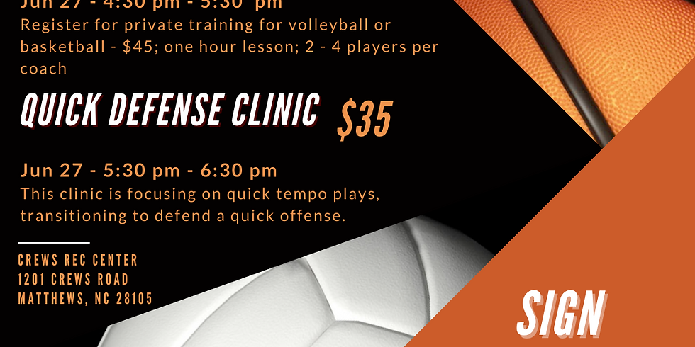 Quick Defense Volleyball Clinic