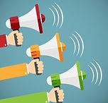 hands-holding-megaphones-in-cartoon-styl