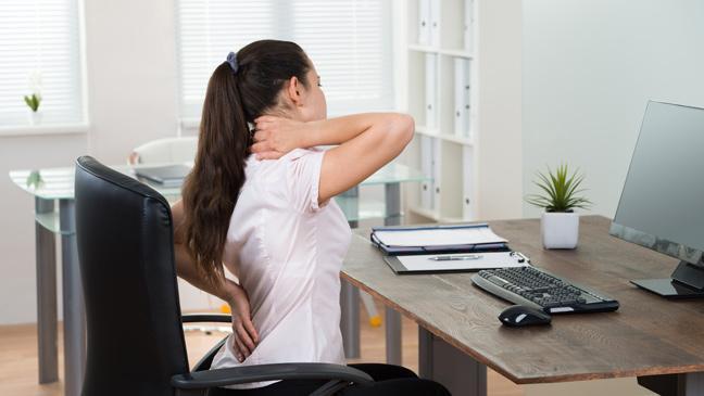 Bad posture, back pain, neck pain